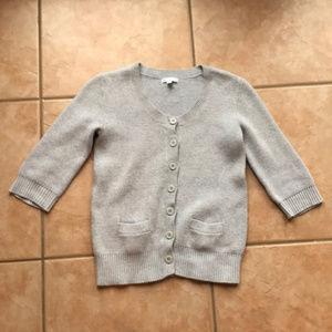 3/$30 Gap Thick Gray Cotton Cardigan Size XS